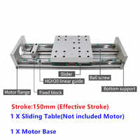 150mm Stroke XYZ Axis Cross Electric Sliding Table Slide Linear Stage SFU1605 Ballscrew for XYZ stage table slide motion
