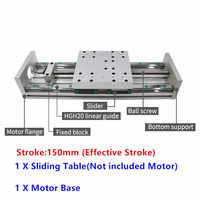 150mm Stroke XYZ Axis Cross Electric Sliding Table Slide Linear Stage SFU1605 Ballscrew for XYZ stage table slide motion