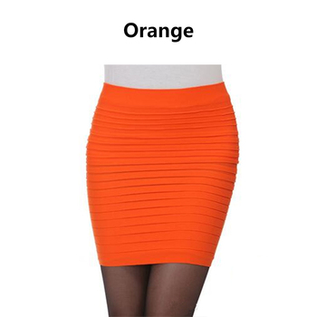 2019 Fashion Sexy Women Candy Color Vogue A line Stretch Clubwear Mini Pencil Skirt Fitted Slim Tight Shorts Femme Faldas Mujer image