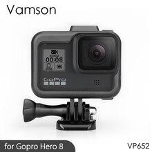 Vamson ل Gopro بطل 8 إطار إطار الحدود الغطاء الواقي الإسكان قاعدة تثبيت ل الذهاب برو بطل 8 ملحقات الحماية VP652