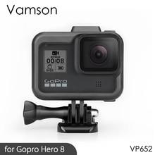 Защитный чехол Vamson для Gopro Hero 8, защитный чехол с рамкой, крепление на корпус для Go pro Hero 8, защитный аксессуар VP652
