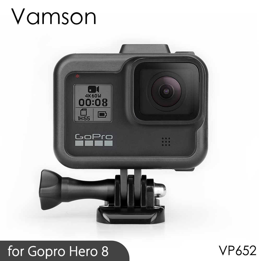 Vamson For Gopro Hero 8 Frame Case Border Protective Cover Housing Mount Base For Go Pro Hero 8 Protection Accessory VP652