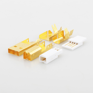 Image 2 - Connecteur USB plaqué or haut de gamme USB A + prise de USB B de Type A B pour câble USB bricolage Taiwan