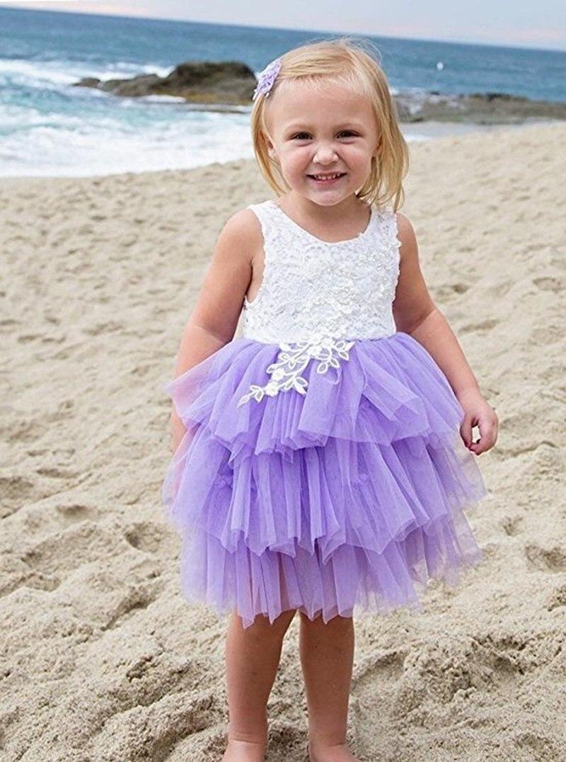 Summer Girl Dress White Scallop Girls Little Girls Princess Dress Tutu Fluffy 2 3 4 5 6 Years Children Casual Wear Kids Clothes 5