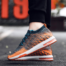 JF2019 Spring and Autumn New Fly-Woven Casual Shoe Mens Air Cushioned Fashion Ventilation Running 46zapatios dehomb.