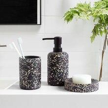 4 шт набор аксессуаров для ванной из смолы держатель зубной