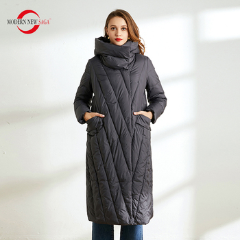 MODERN NEW SAGA 2020 Women Winter Parka Cotton Padded Coat Parka Woman Winter Coats Hooded Thick Warm Women Winter Long Jacket maternity winter jacket women new 2018 coats female parka black thick cotton padded lining clothes pregnant woman outwear