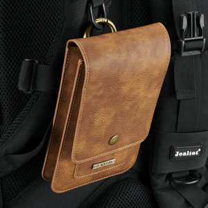 Image 5 - Universal Phone Bag for Iphone XS MAX XR X 6 7 8 11 12 PU Leather Belt Clip Waist Wallet Case Cover for Samsung S8 S9 S10 More