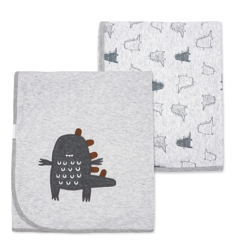 Super Soft Cotton Baby Bedding Blanket Double-Deck Newborns Swaddle Bebe Envelope Cartoon Infant Stroller Wrap