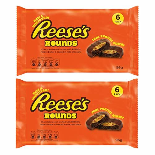 Reeses Rounds 1039000 Peanut Butter Biscuits, Cookies, Chocolate Biscuits, 2 X 96 G