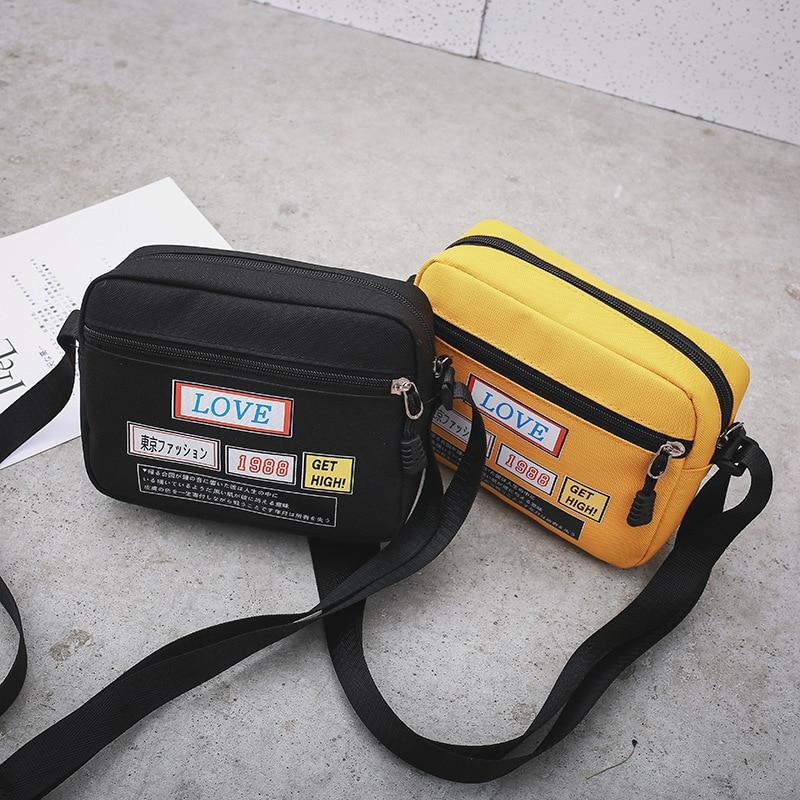 Women Crossbody Small Bag 2020 New Fashion Shoulder Bag Student Korean Version Simple Wild Phone Bag Canvas Bag