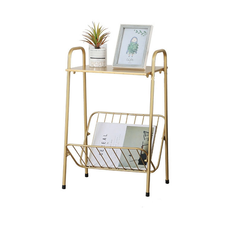 Simple modern small square table double deck creative sofa side multi functional balcony tea table
