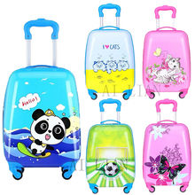 16''18 inch Kids travel rolling luggage carry on suitcase with wheels Cabin trolley luggage bag children Cartoon cute case