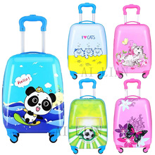 Suitcase Luggage-Bag Trolley Travel Wheels-Cabin Carry-On Kids Children Cartoon