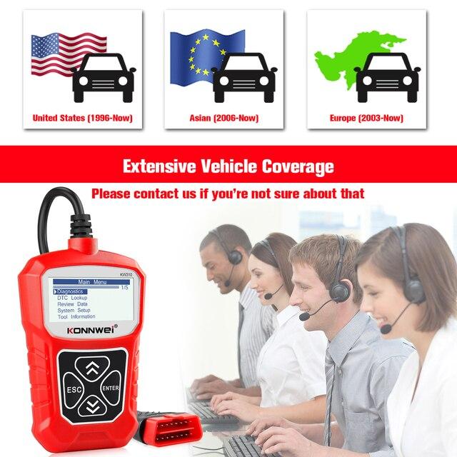 KONNWEI KW310 OBD2 Scanner OBD universel outil de Diagnostic automatique vérifier moteur Code lecteur automobile outil de Diagnostic pour voiture ELM327
