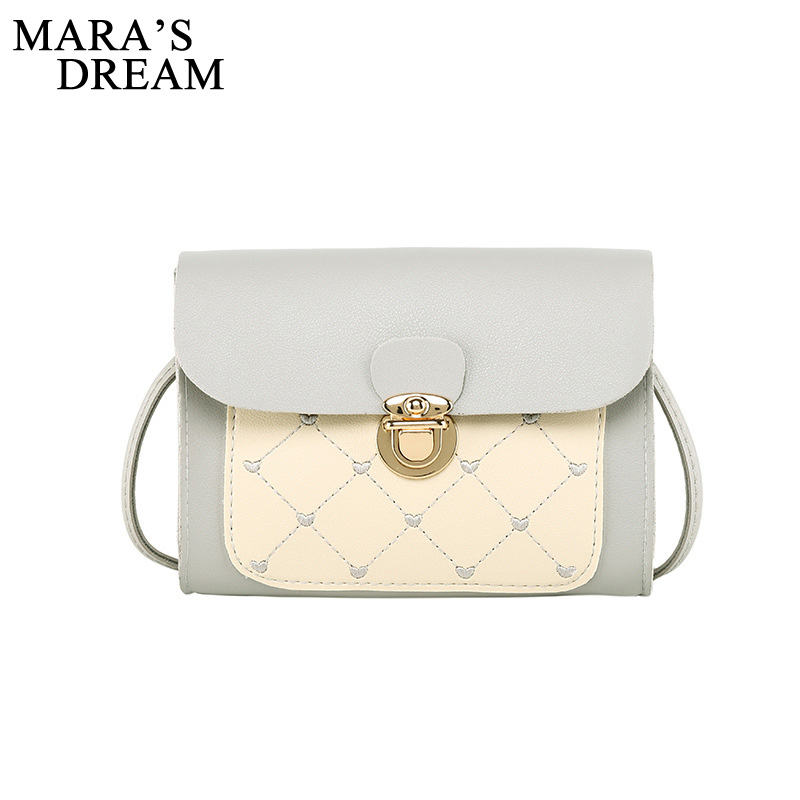 Mara's Dream 2020 New Women's Diamond Check Color Shoulder Lock Square Bag Autumn And Winter Embroidered Messenger Bag