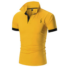 2021 new men's short sleeve T shirt Korean edition standing collar slim body POLO shirt fashion half sleeve men's shirt