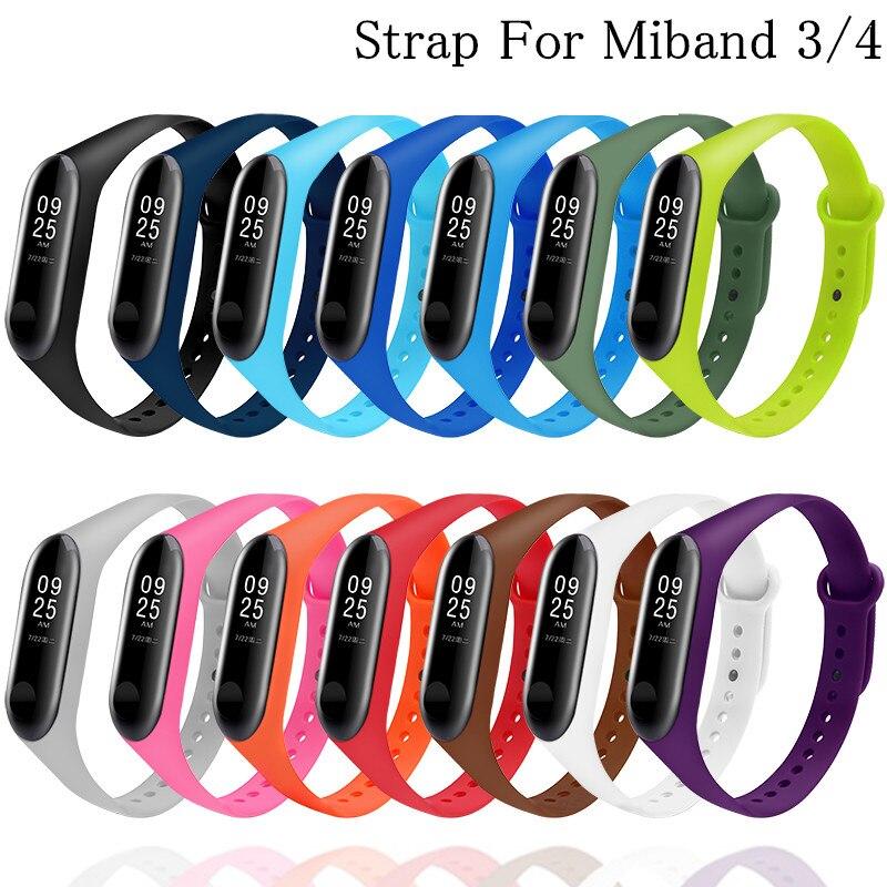 Bracelet For Mi Band 3 4 Sport Strap Watch Silicone Wrist Strap Replacement For Xiaomi Mi Band 3 4 Bracelet Miband 4 3 Strap