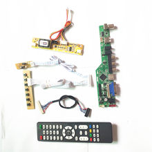 For LM200WD1-TLC1/TLD2 LCD display panel T.V53 controller board Remote+Inverter+keyboard 2CCFL 30Pin LVDS VGA HDMI AV USB RF Kit(China)