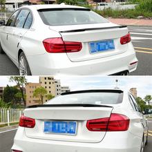 Use For BMW 3 Series F30 Spoiler 2013-- Year Glossy Real Carbon Fiber Rear Wing P Style Sport Accessories Body Kit