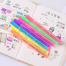 fluorescent acrylic paint pen black card marker stationery colores drawing back to school educational supplies watercolor art