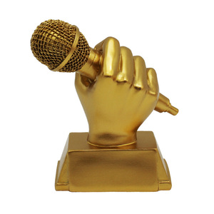 voice Trophy Cup 13cm Variety Show The Voice Of USA Music Fans Souvenir Microphone Trophies