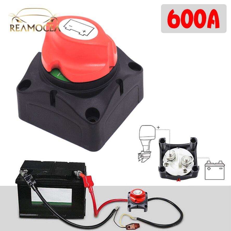 Изолятор автомобильного аккумулятора Reamocea 600A 12 В/24 В, основной переключатель, сепаратор аварийной остановки, большой, для внедорожников, ав...