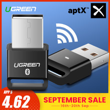 Ugreen USB Bluetooth Dongle Adapter 4.0 for PC Computer Speaker Wireless Mouse Bluetooth Music Audio Receiver Transmitter aptx(China)