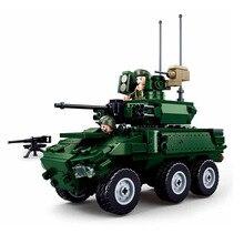 DIY Bricks Vehicle Military Model Building-Blocks Chariot Kids Toys Infantry 382pcs Car-Brinquedos