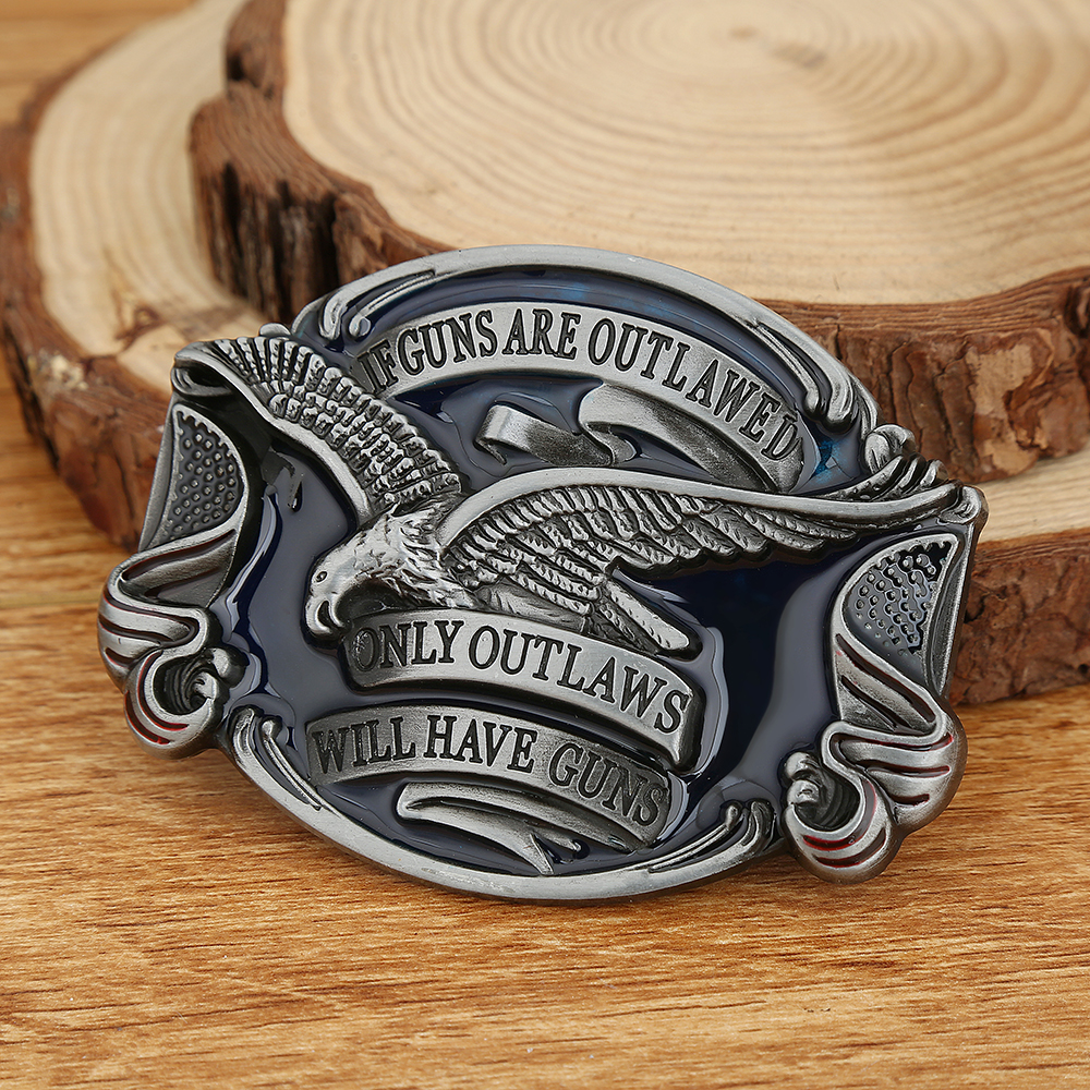 Western Cowboy Belt Buckle American Original Eagle Zinc Alloy Casual Men And Women Belt Buckle Birthday Party Gift