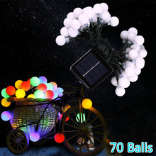 Solar Fair Ball String Lights Solar Powered Christmas Light Patio Lighting for Home Garden Lawn Party Decorations 50 Led 7M дмитрий гайдук про хороших людей с марио