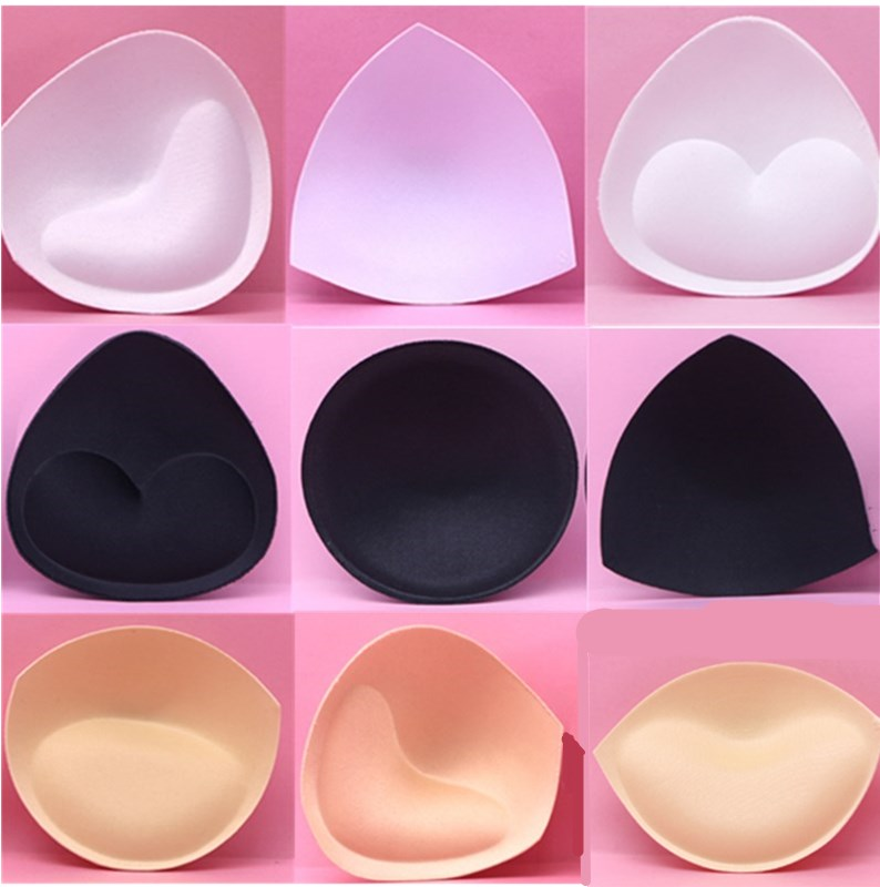 6pcs/3pair Sponge Bra Pads Push Up Breast Enhancer Removeable Bra Padding Inserts Cups for Swimsuit Bikini Padding Intimates