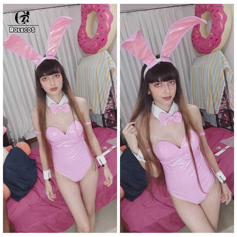 ROLECOS Momo Belia Deviluke Cosplay Sexy Bunny kostium Anime Cosplay do miłości-Ru ciemność kostium różowy kombinezon mały diabeł ogon