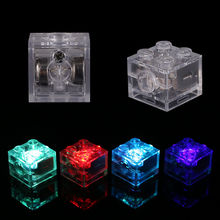 Moc Creative Luminous Led Lights  Brick 2X2 DIY Enlighten Classic Flashing Building Blocks Compatible with Assembles Particles