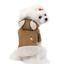Warm Dog Clothes Winter Puppy Jacket Cartoon Bear Soft Fleece Pet Cat Clothes Small Dog Coat Chihuahua Shih Tzu Clothing For Dog cartoon funny christmas dog clothes for small dogs winter coat french bulldog jacket chihuahua shih tzu outfit puppy pet clothes