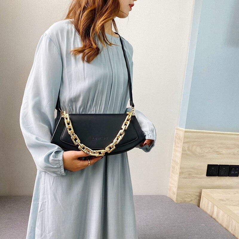 bags for women 2021 Pure PU leather chain ladies luxury brand handbag crossbody bags for women sac bandouliere femme women bag