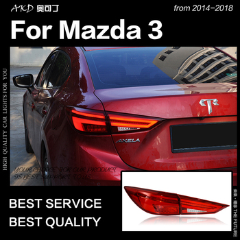 AKD Car Styling Tail Lamp for Mazda 3 Axela LED Tail Light 2017-2018 Mazda3 DRL Dynamic Signal Brake Reverse auto Accessories