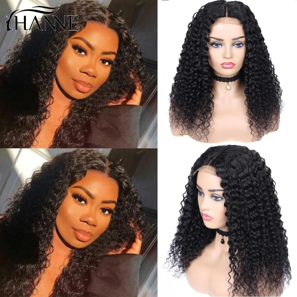 Curly Closure Wig Human Hair Brazilian Lace Closure Remy Human Hair Wigs With Baby  Hair Pre Plucked Bleached Knots HANNE Hair
