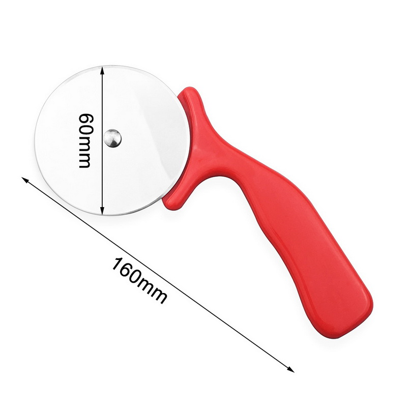 1pc Pizza Cutter Stainless Steel Knife Cake Tools Pizza Wheels Scissors Ideal for Pizza Pies Waffles Dough Cookies Red Color-4