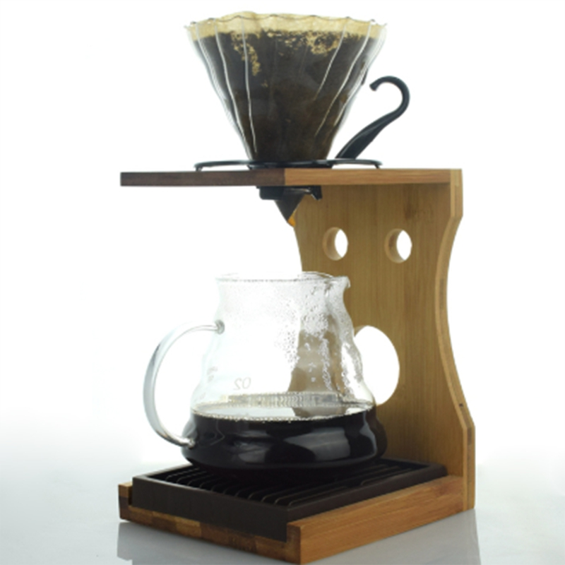 Bamboo V60 Brewing Stand Barista Coffee Dripper Stand Holder Rack|Coffeeware Sets| |  - title=