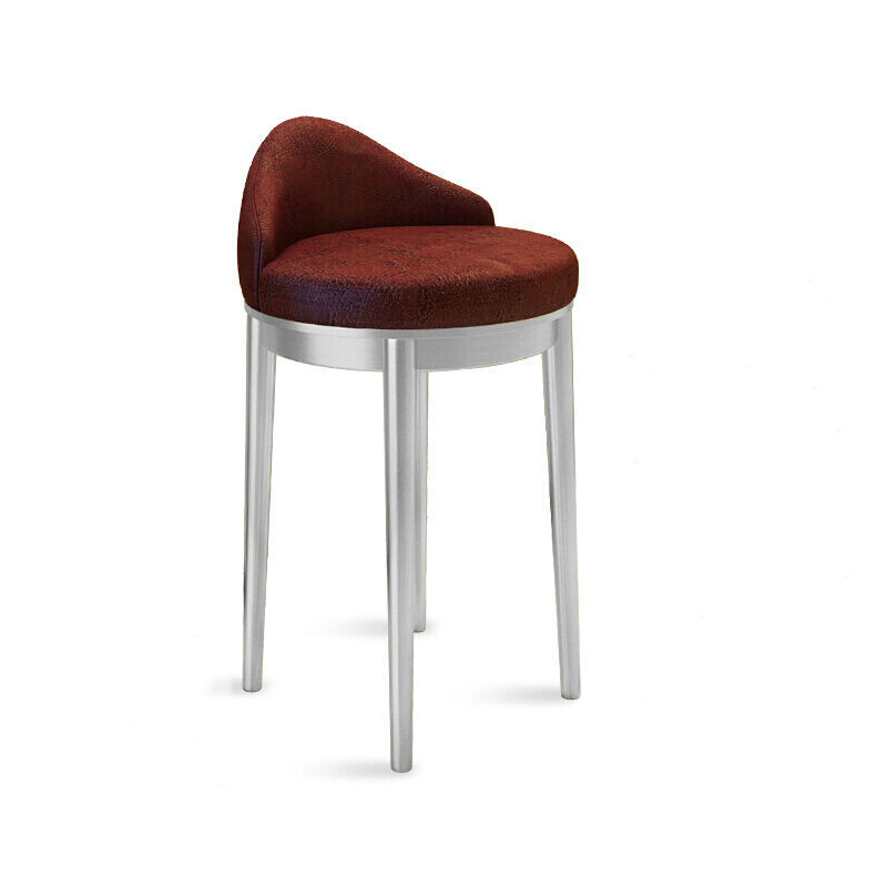Jewelry Store Chair Stainless Steel High Stool Bar Stool Backrest Mobile Phone Shop Counter Stool Cashier Front Desk Chair