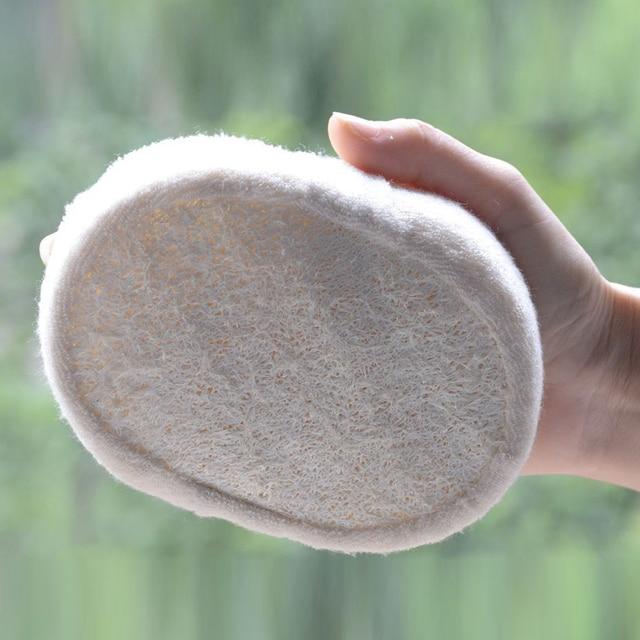 BGVfiveHot Soft Loofah Sponge Bath Ball Shower Rub For Whole Body Healthy natural washcloth 4