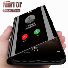 luxury Smart Mirror Flip Phone Case For OPPO