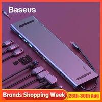 Baseus USB Type C HUB to 3.0 USB HDMI RJ45 USB HUB for MacBook Pro Accessories USB Splitter Multi 11 Ports Type C HUB USB C HUB