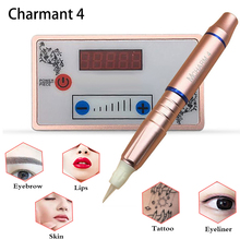 Dermografo Charmant 4 Digital Permanent Makeup Machine Eyebrow Tattoo Pen Swiss Motor Maquina for Eyebrow Lip Cartirdge Needles