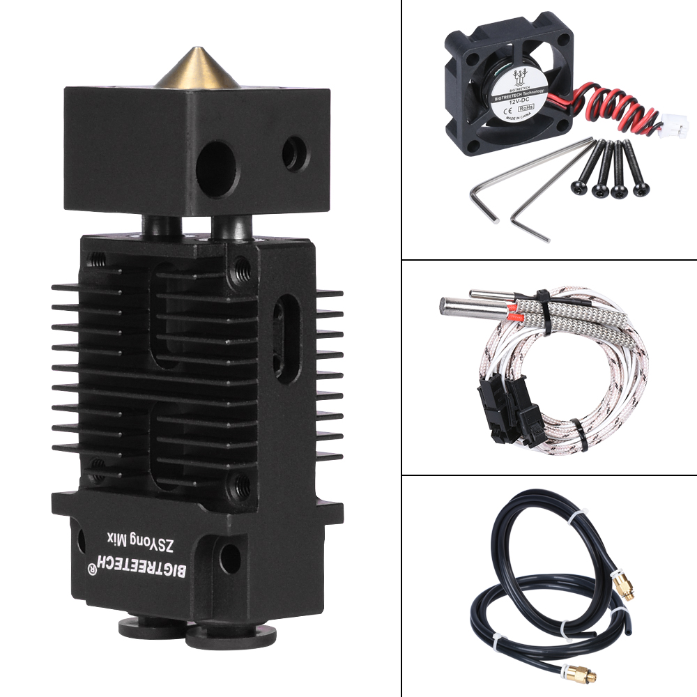 BIGTREETECH 2 IN 1 OUT Hotend Mixed Color Extruder 12V 24V Heater 3D Printer Parts Hotend J-head 1 75mm Filament for Titan MK8