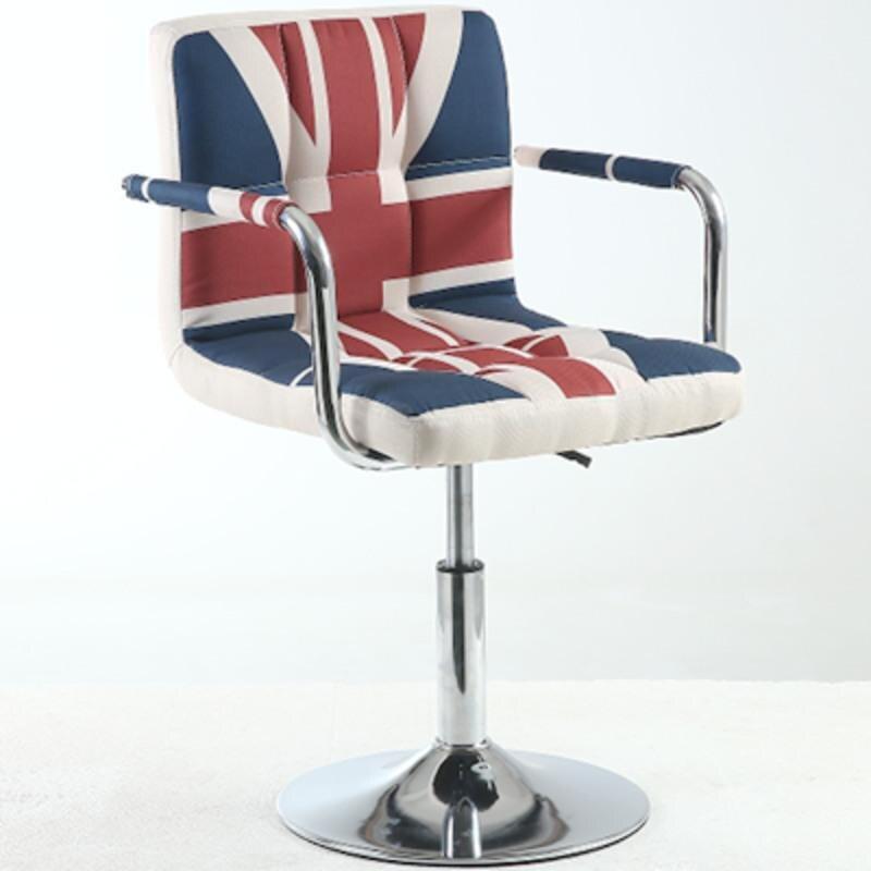 Simple Bar Chair Bar Stool Front Desk Cashier Chair Lift Back Stool Makeup Beauty Chair Modern Home High Stool