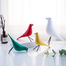 Europe Style Resin Craft Bird Figurine Office Wooden Figurines Sculpture Peace Mascot Home Decoration Accessories