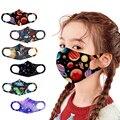 Детская маска для лица для мальчиков и девочек, моющаяся мультяшная маска, многоразовая маска с принтом планеты и животных, маски, дышащие м...