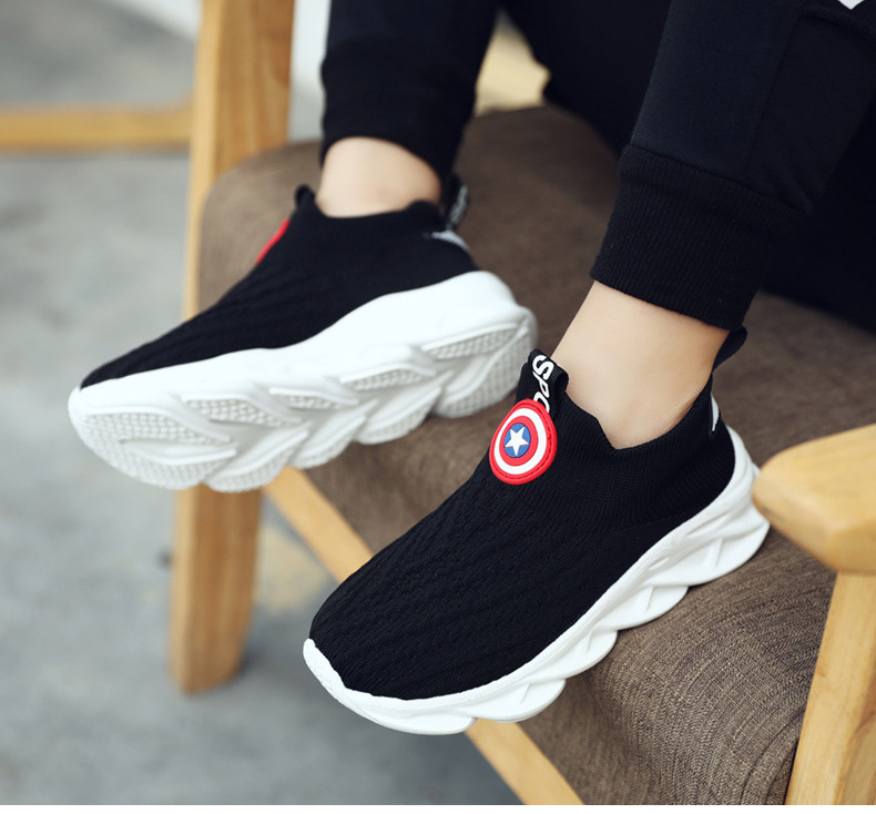 2019 Autumn boys sneakers kids shoes girls travel casual sports Socks shoes Mesh children's breathable running shoes (16)